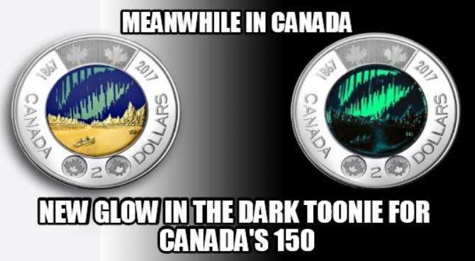 Glow in the dark toonie