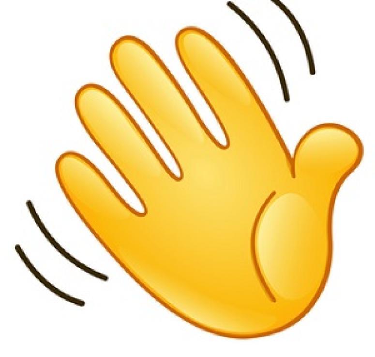 hand waving clipart - 775×736