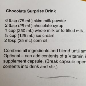 CHOCOLATE SURPRISE DRINK