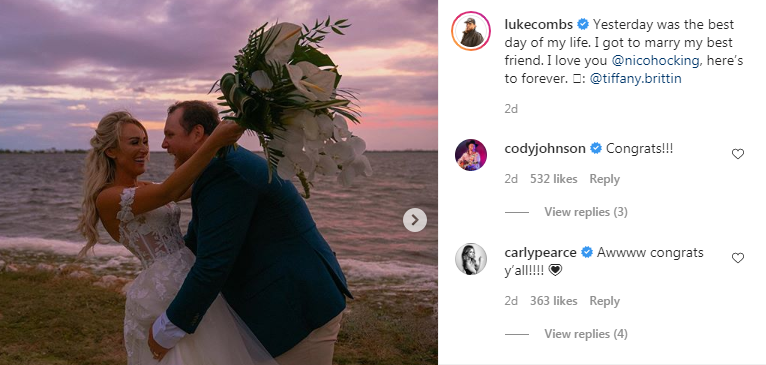 Luke Combs And Nicole Hocking Get Hitched Blog Cfcy